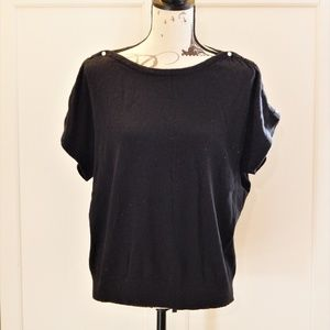 Joseph A. Black Sweater Top Sz XL
